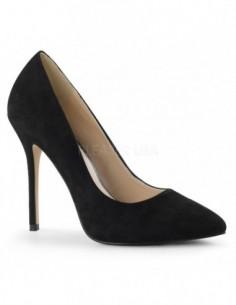 Elegantes zapatos de nobuk con punta fina y tacón de aguja
