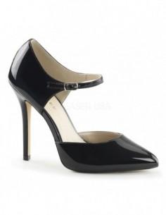 Zapatos clásicos de charol brillante con correa