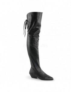 Botas de tacón bajo y cuero sintético acordonadas de talla 36 a 48