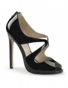 Elegantes zapatos de charol brillante con aberturas en talla 35 a 46