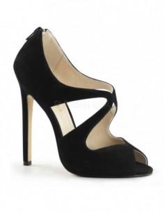 Elegantes zapatos de suave Nobuk con aberturas en talla 35 a 46