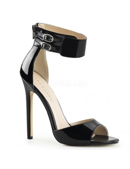 Sandalias de charol con banda ancha al tobillo desde talla 35 a 46