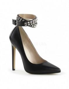 Zapatos fetish piel auténtica con tacón alto y correa de talla 35 a 46