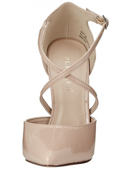 Sandalias de charol correas cruzadas y tacón de aguja en talla 35 a 46