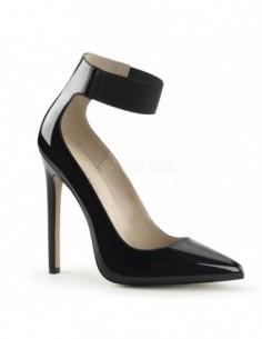 Preciosos zapatos de charol correa elástica ancha en talla 35 a 46