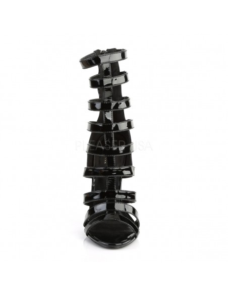 Botines de charol con multiples correas Gladiator en talla 35 a 46