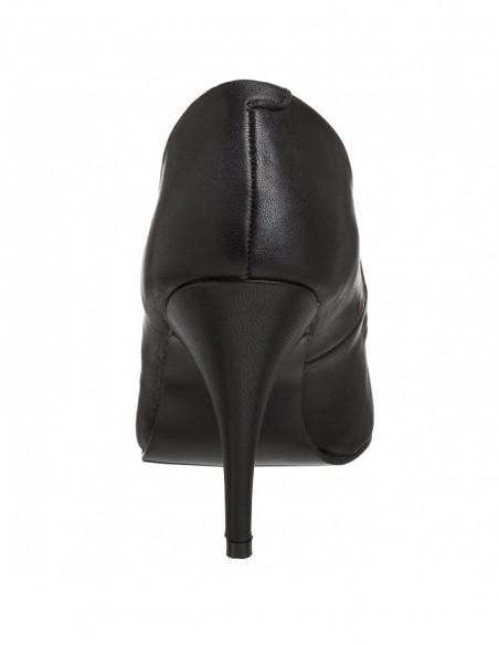 Zapatos de salón diseño clásico en cuero sintético desde talla 35 a 48