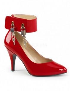 Zapatos Pump de Bondage con correa ancha y candados talla 40 a 50