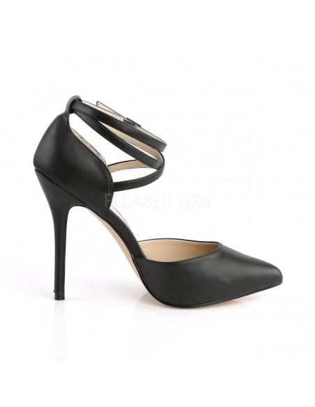 Zapatos estilo Dorsay de polipiel con correas cruzadas talla 35 a 48
