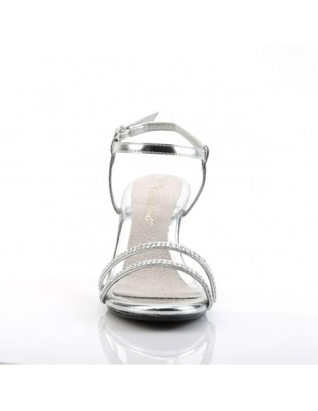 Sandalia de dos tiras con strass