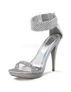 Sensuales sandalias con cómoda plataforma y pulsera de strass