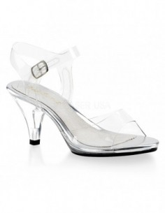 Sandalia transparente con correa al tobillo