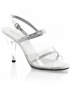 sandalia de empeine y tacón transparente con decoración de strass