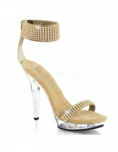 Sandalia de plataforma baja con pulsera ancha al tobillo recubierta de strass